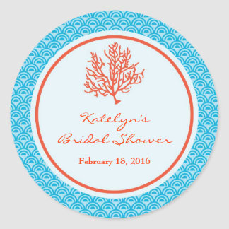 Red Coral Favor Sticker
