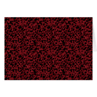 Red coral pattern card