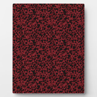 Red coral pattern photo plaques