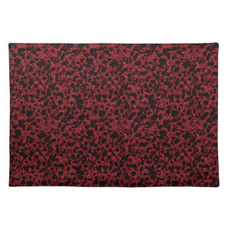Red coral pattern placemat