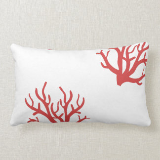 Red Coral Toss Pillow Throw Cushions