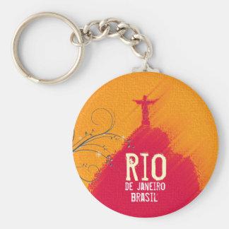 Red Corcovado Rio-Brasil Key Ring