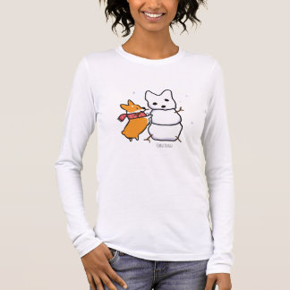 Red Corgi Snowman Shirt