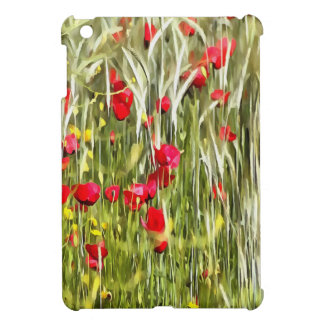 Red Corn Poppies iPad Mini Covers