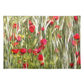 Red Corn Poppies Placemat