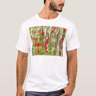 Red Corn Poppies T-Shirt