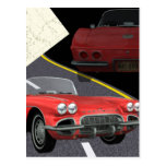 Red Corvette - Car/Father's Day Design Postcard