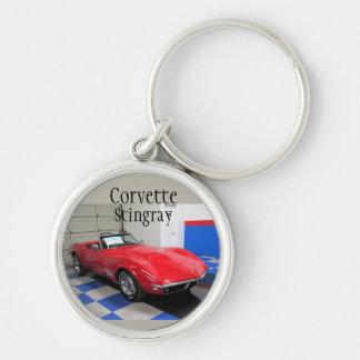 Red Corvette Key Ring
