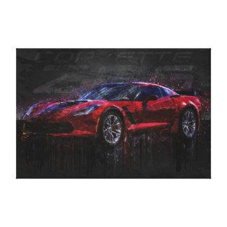 Red Corvette Z06 Canvas Print