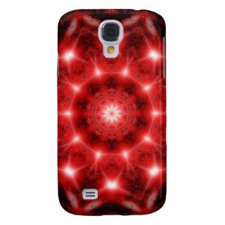 Red Cosmos Mandala Galaxy S4 Case