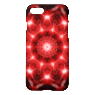 Red Cosmos Mandala iPhone 7 Case