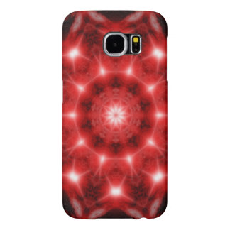 Red Cosmos Mandala Samsung Galaxy S6 Cases
