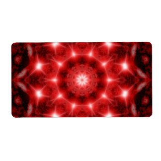Red Cosmos Mandala Shipping Label