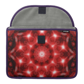 Red Cosmos Mandala Sleeve For MacBook Pro