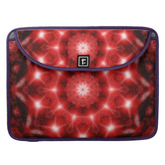 Red Cosmos Mandala Sleeve For MacBooks