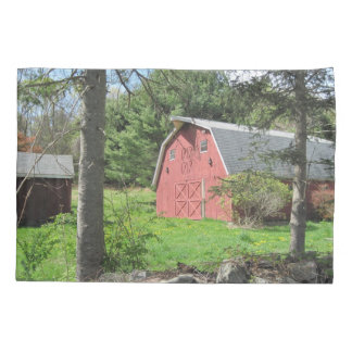 Red Country Barn Pillowcase
