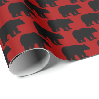 Red Country black bear pattern wrapping paper