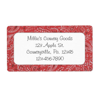 Red Country Business Label Shipping Label