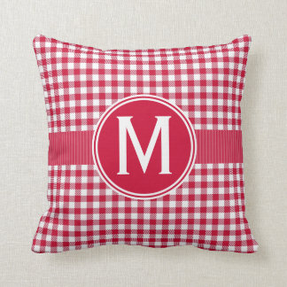 Red Country Gingham Tablecloth Pattern Cushion