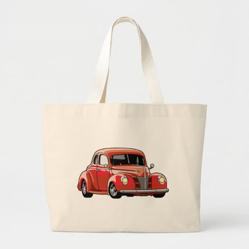 Red Coupe Hot Rod Bags