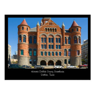 Red Courthouse Downtown Dallas Texas Postcard