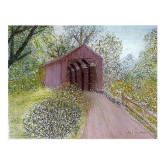 Red Covered Bridge Postcard