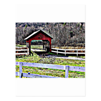 Red Covered Bridge Post Cards