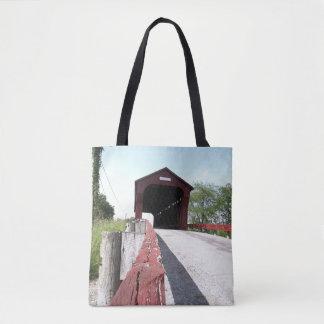 Red Covered Bridge Tote Bag