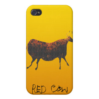 Red Cow of Lascaux Covers For iPhone 4