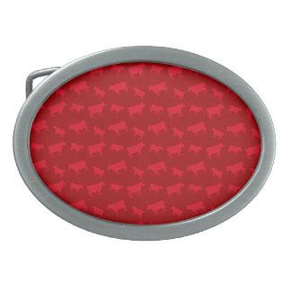 Red cow pattern belt buckles