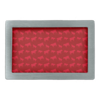 Red cow pattern rectangular belt buckles