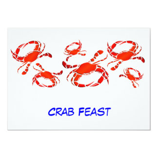 Red Crab Feast Card