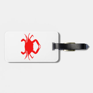 Red Crab Luggage Tag