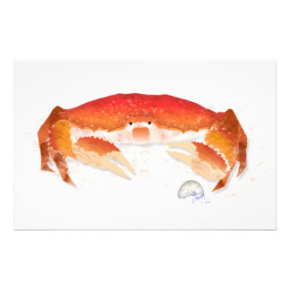 Red Crab Personalised Stationery