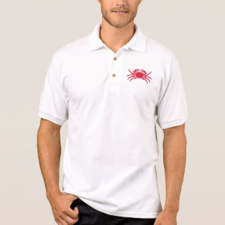 Red crab polo shirt