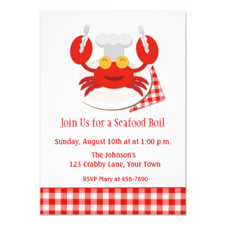 Red Crab Seafood Boil Card
