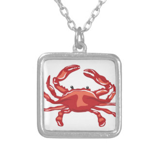 Red Crab Silver Plated Necklace