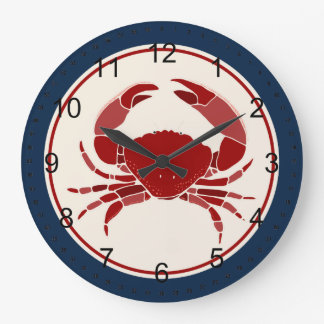 Red Crab Wall Clocks