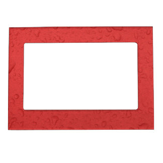 Red craquelure raindrop picture frame