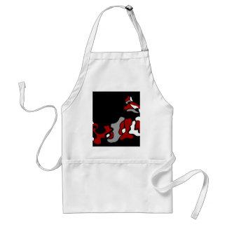 Red crativity standard apron