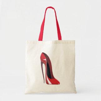 Red Crazy Heel Stiletto Shoe Art Tote Bag