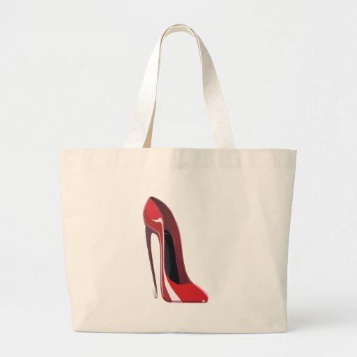Red Crazy Heel Stiletto Shoe Art Bags