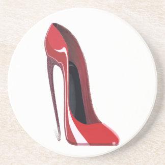 Red Crazy Heel Stiletto Shoe Art Coasters