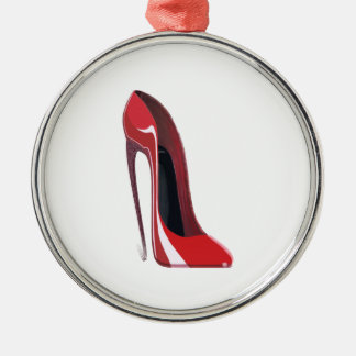 Red Crazy Heel Stiletto Shoe Art Christmas Ornament