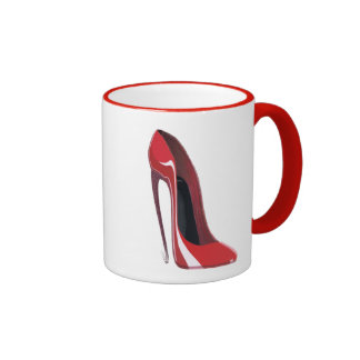 Red Crazy Heel Stiletto Shoe Art Mug