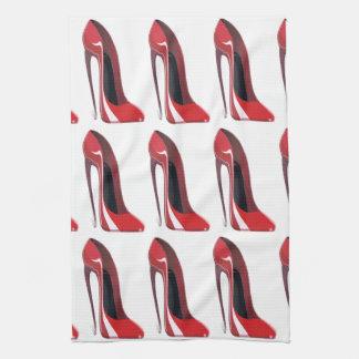 Red Crazy Heel Stiletto Shoe Art Towels