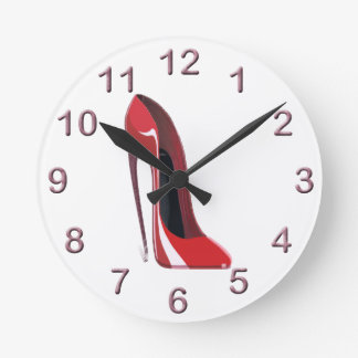 Red Crazy Heel Stiletto Shoe Art Wallclock