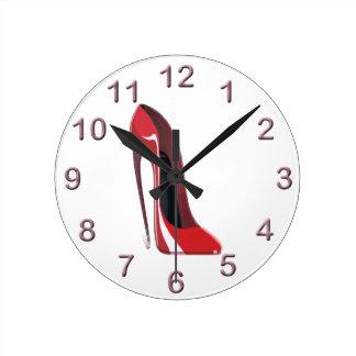 Red Crazy Heel Stiletto Shoe Art Wallclock