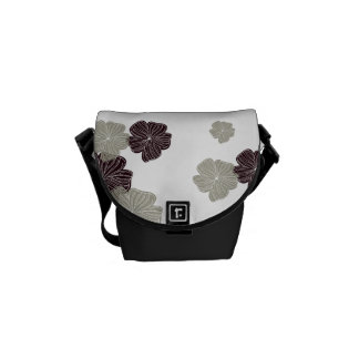 Red Cream Floral Courier Bag