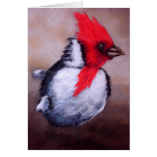 Red Crested Cardinal Card